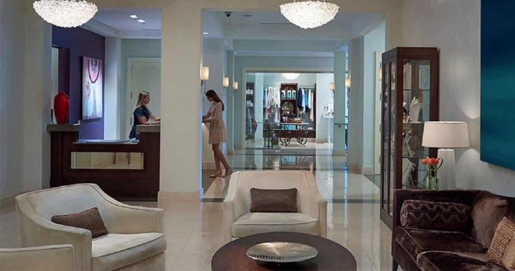 Business lobby area