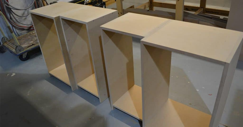 Custom made furniture being built