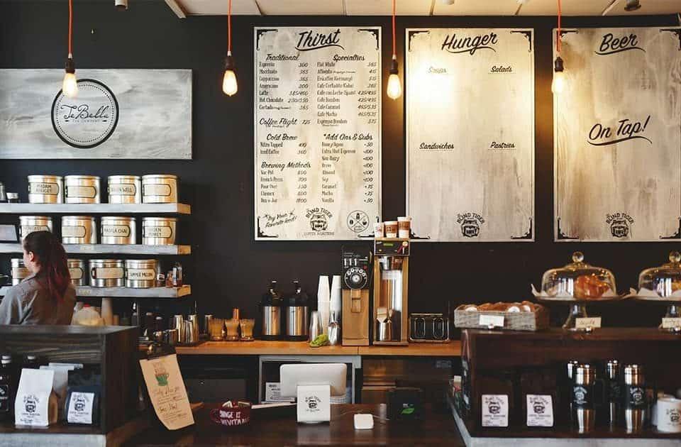 Stylish coffee shop design