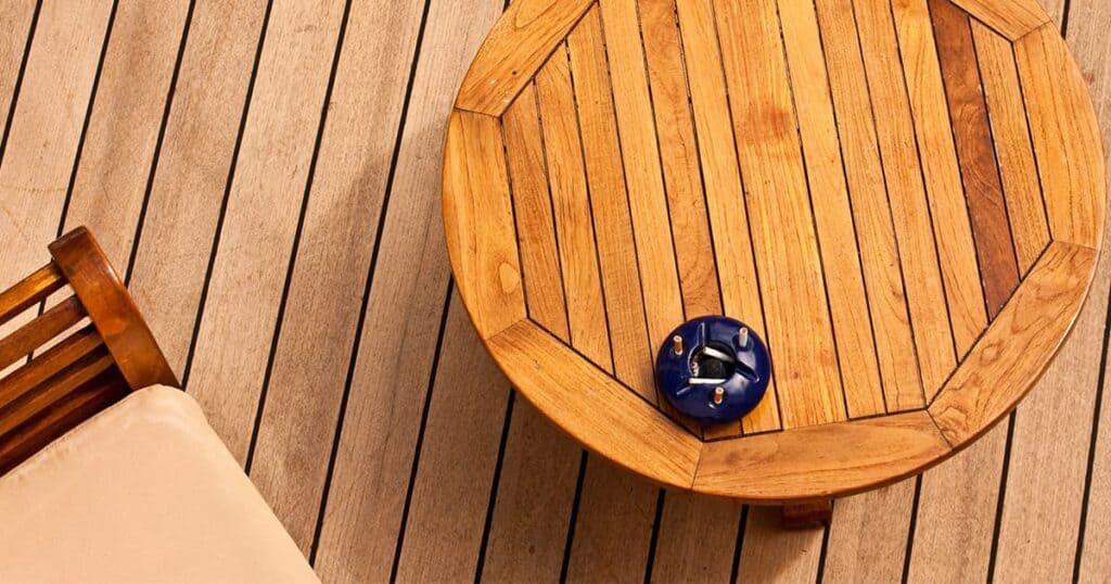 Outdoor wood decking