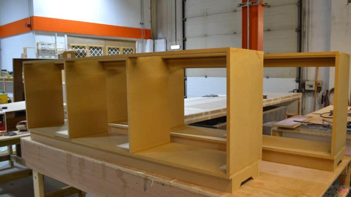 Bespoke furniture being created