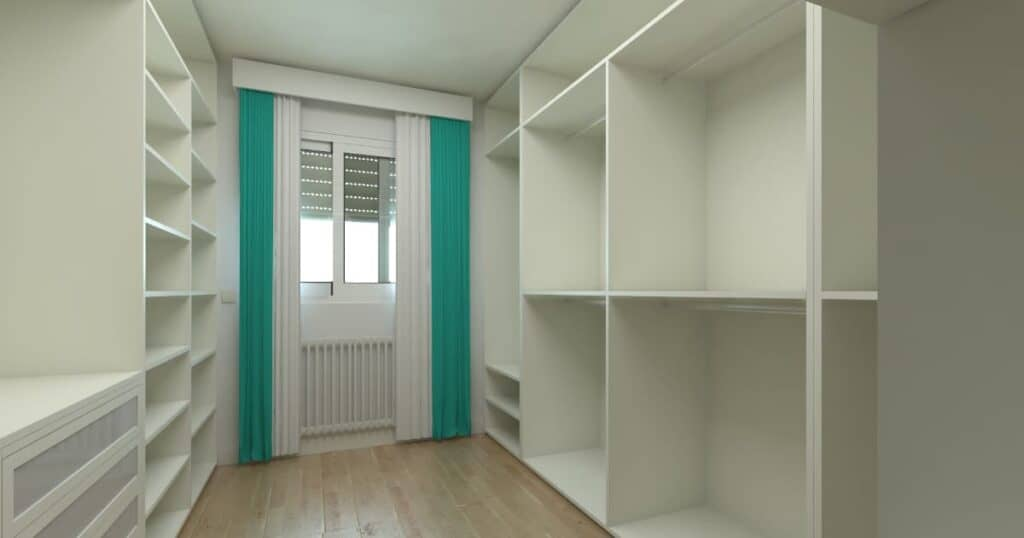 Fitted wardrobe room