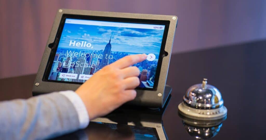 Contactless hotel check in system