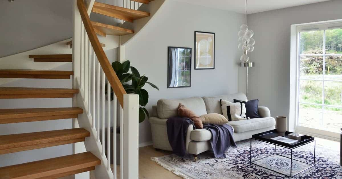 Staircase in living room