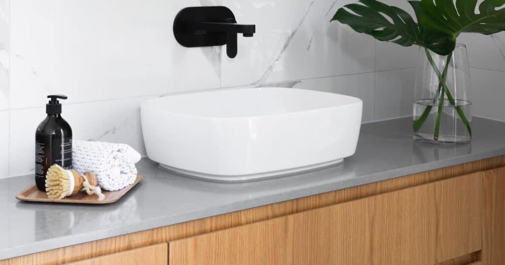 Ceramic bathroom countertop
